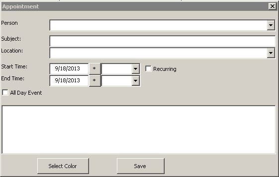 Excel Calendar Appointment View